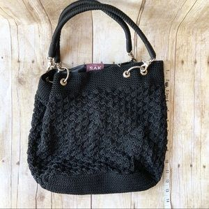 The Sak Bags - The SaK Original, Hans-crocheted Tote Bag in Black